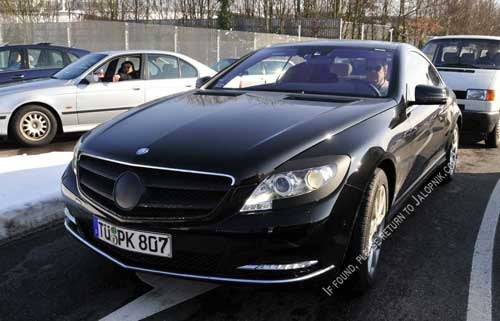 2011 Mercedes CL Spied Sans Camo, Snow