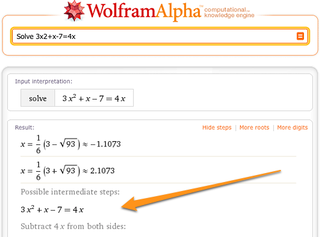 Wolfram Alpha Teaches You Math, One Step at a Time