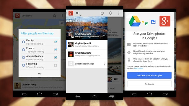 Google+ for Android Adds Account Switching, Location Sharing, and More