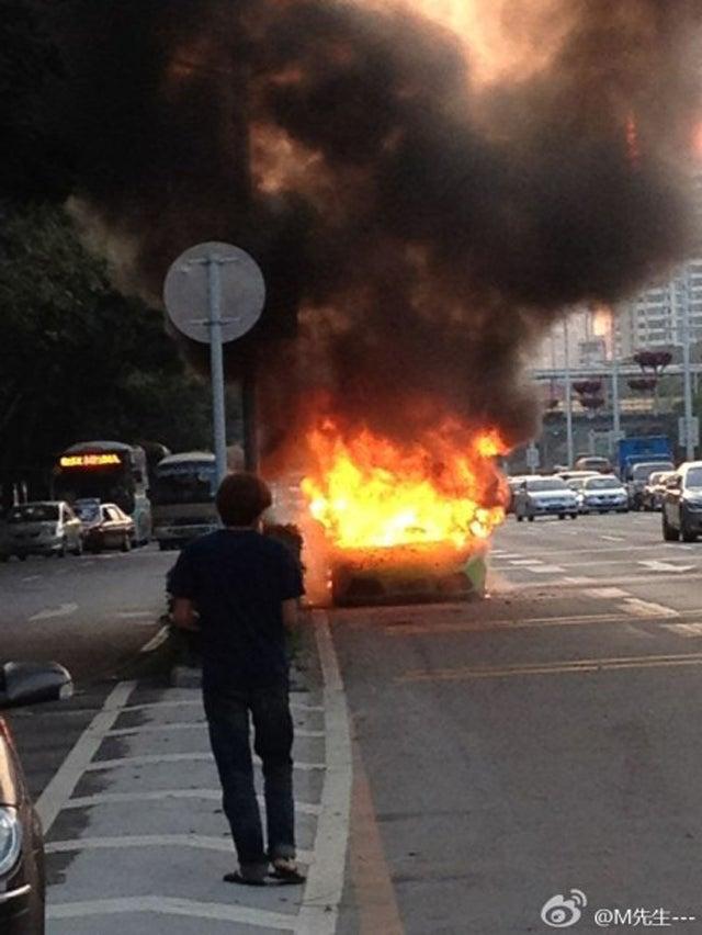 Lamborghini Murcielago Burns To The Ground In China