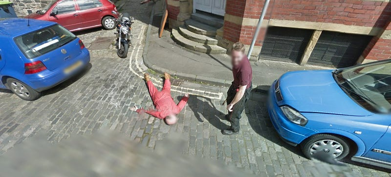 What's The Most Amazing Prank Caught On Google Streetview?