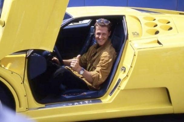 "Michael Schumacher's ""P***y Magnet Yellow"" Bugatti"