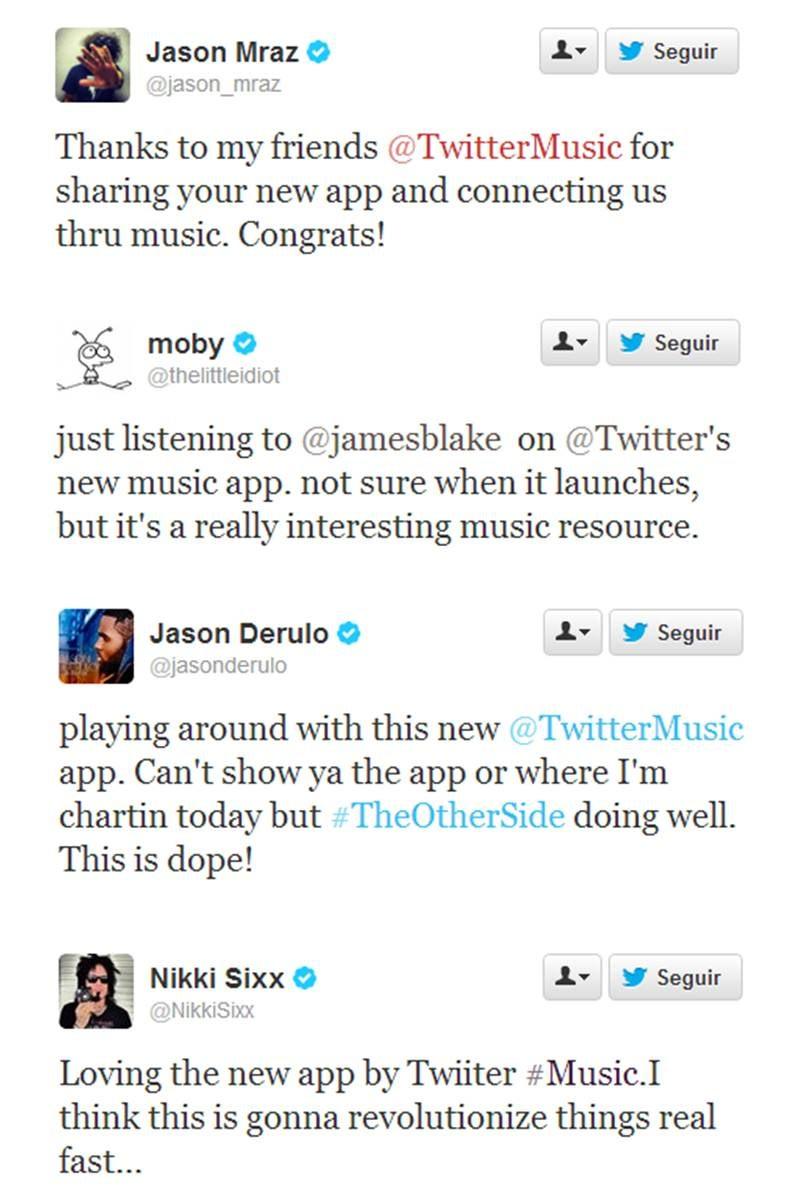 Varios artistas ya están probando la nueva app de música Twitter Music