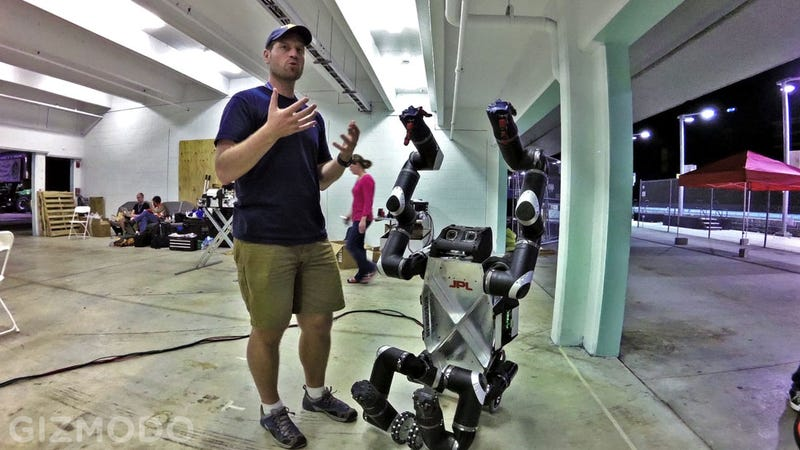 On Site at the Machine Olympics of DARPA's Robotics Challenge