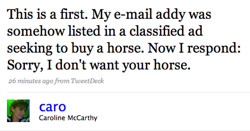 The Twitterati Refuse to Sell a Horse for an Aeron Chair