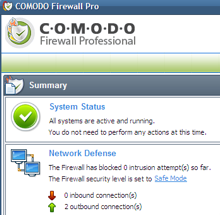 Hive Five Winner for Best Windows Firewall: Comodo Firewall Pro