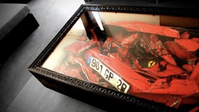 If You Crash a Ferrari, You Can Always Turn it Into a Crashed Ferrari Coffee Table
