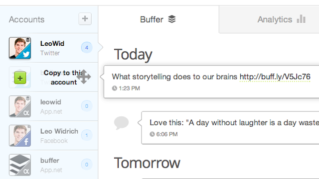 Buffer Streamlines Sharing Across Multiple Social Networks