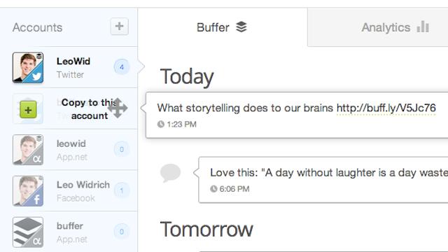 Buffer Streamlines Sharing Across Multiple Social Networks