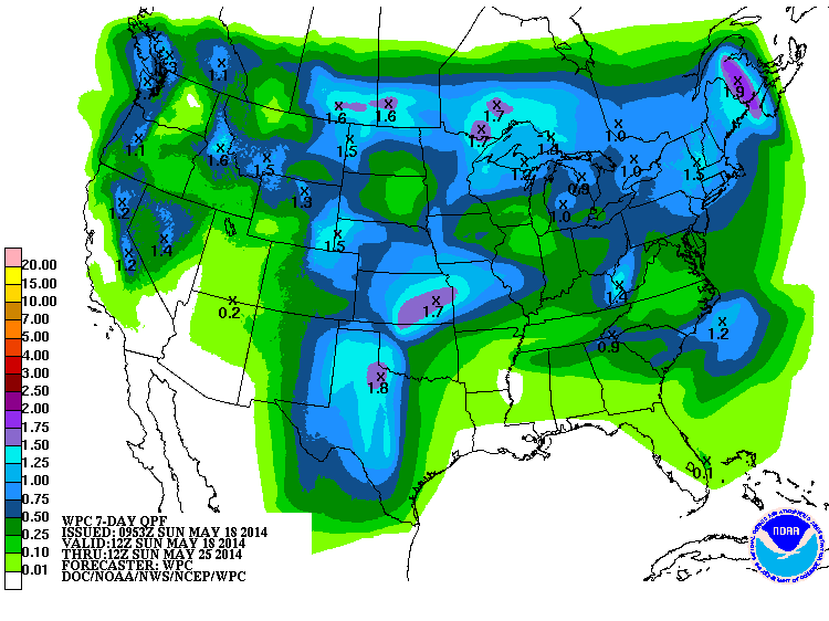 A Boring Weather Week on Tap for the United States