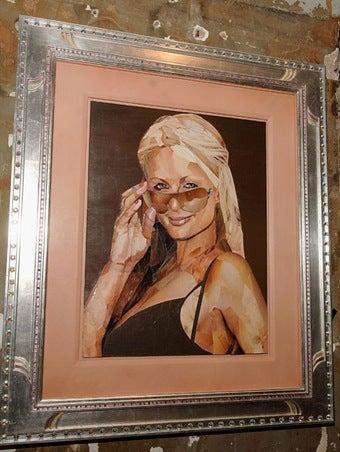 Paris Hilton Portrait Made Entirely of Porn