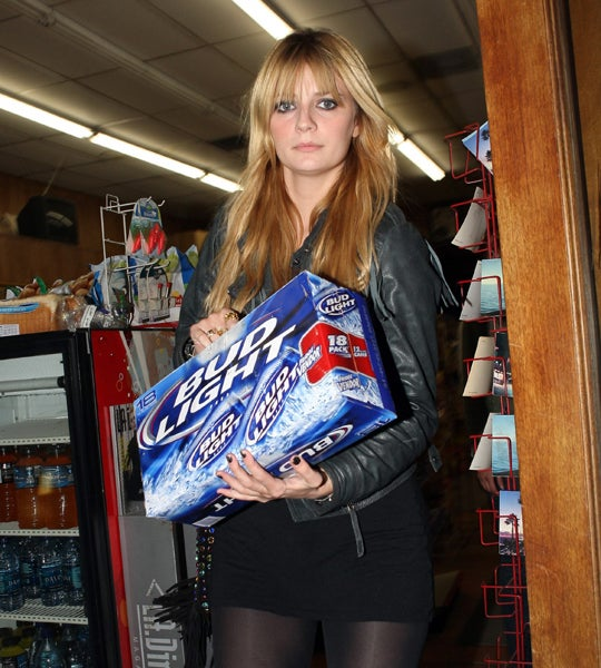 Mischa Barton Stocks Up For The McCain Drinking Game