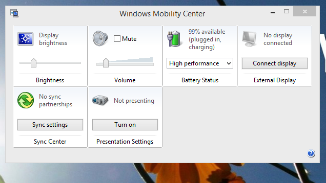Control All Your Laptop's Hardware from the Windows Mobility Center