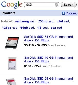 Google Product Search Goes Mobile