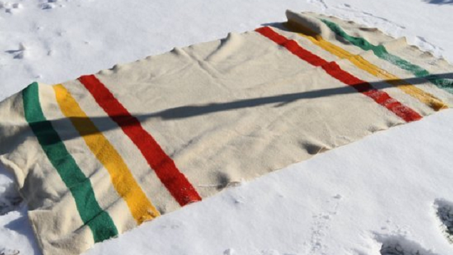 Clean Wool Blankets with Fresh Snow