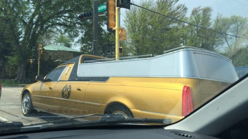 Send The World One Last 'F You' With This Gloriously Gaudy Hearse