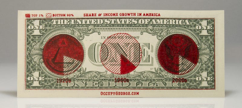 The 99% Is Printing Infographics on Money to Show the 1% the Reality of Occupy Wall Street