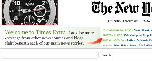 Times Extra Adds Outside Sources to New York Times
