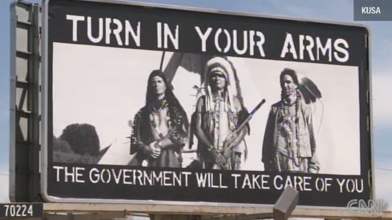 Billboard Exploits Native American History to Sell Pro-Gun Message