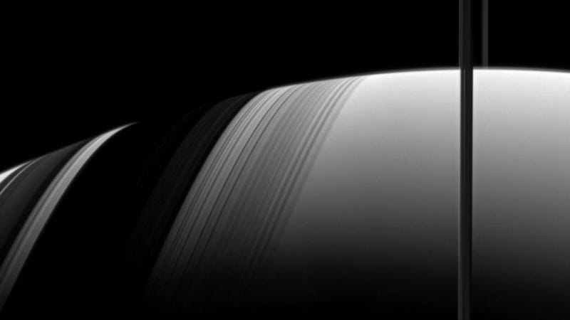 Saturn's rings form a cosmic sundial