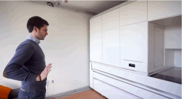 This Box Transforms A 200-Square-Foot Room Into A Comfortable Apartment