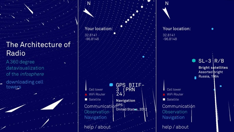This Beautiful App Lets You See the Cell Towers, Wifi Signals, and Satellites Around You