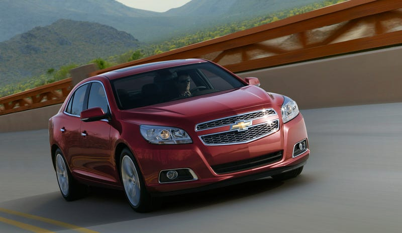 The 2013 Chevy Malibu has a really nice ass