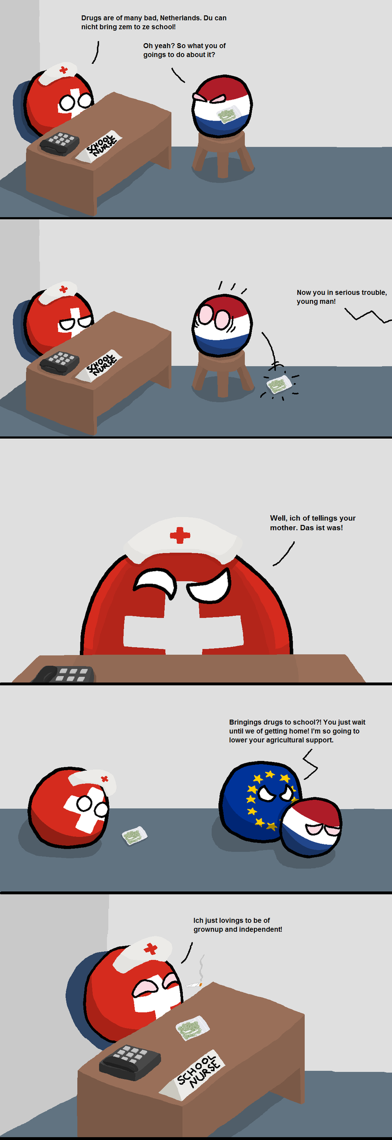 Daily Polandball: Nurse Switzerland is Back Again.