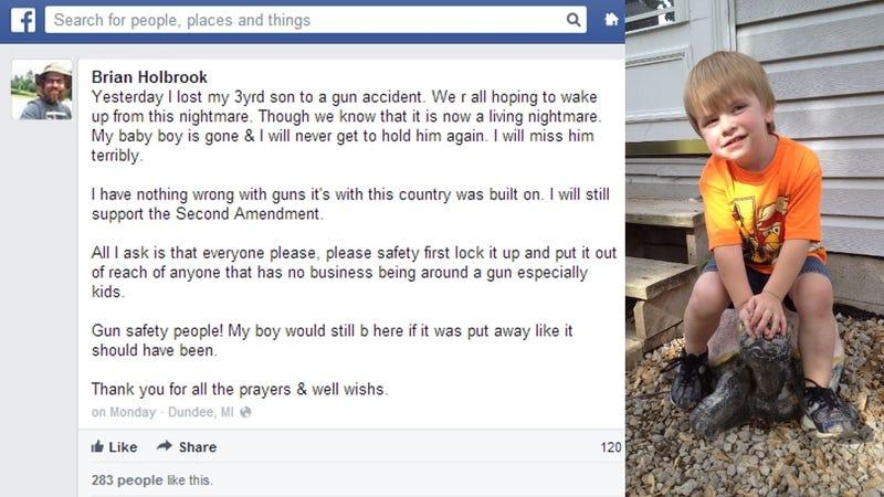 Dad Sticks Up for Guns on Facebook Hours After Toddler Shoots Himself