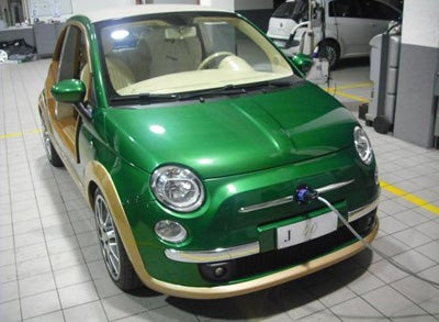 Libyan rebels liberate Gaddafi's custom Fiat 500