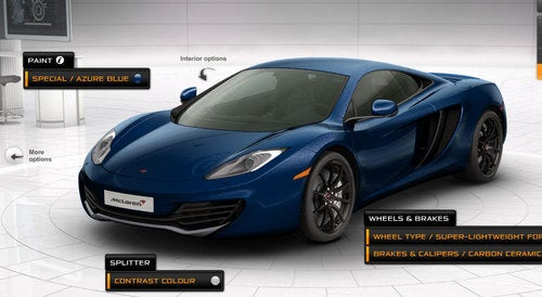 McLaren MP4-12C Configurator: Your Light-Weight Time Waster