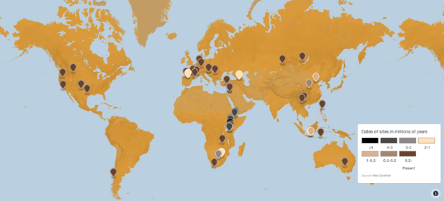 How Our Early Ancestors Spread Far and Wide, Mapped