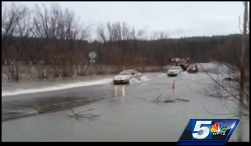 Do Not Drive Across a Flooded Roadway Like These Dumbasses in Vermont