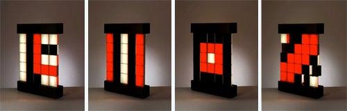 Rotating Mobil Pixel Lamp: 847 Billion Designs In One