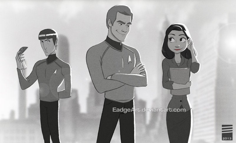 Tony Stark cuts through the Paperman flirting with cocktails