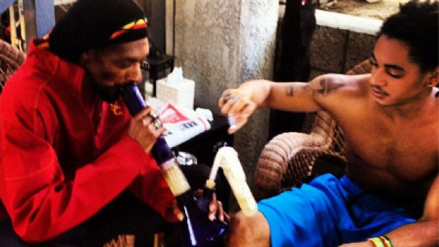It's Admirable That Snoop Dogg Smokes Weed With His Son