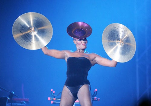 Cymbal Woman: The Woman With Cymbals for Hands!