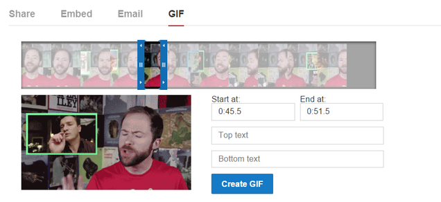 YouTube Now Lets You Make GIFs From Videos