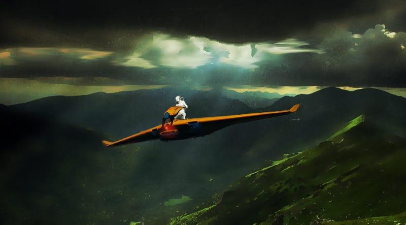Freedom Is A Snazzy Orange Glider