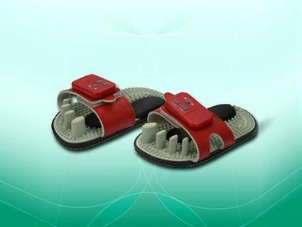 Electronic Massage Sandals: A Haiku