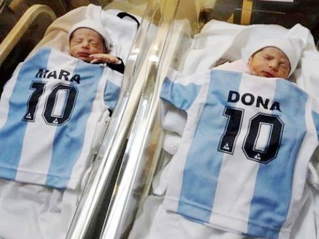 "Argentinian Sportswriter Names Twin Daughters ""Mara"" And ""Dona"""