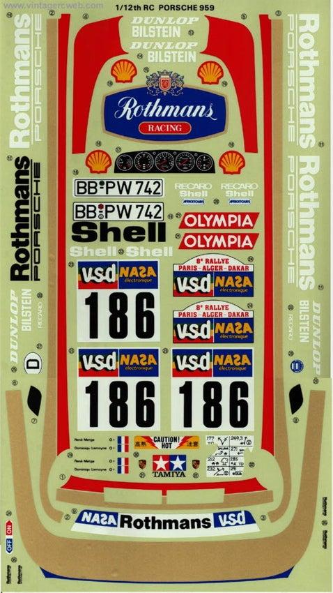 Porsche 959 Decals!