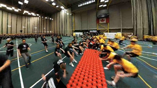 Watch an Interactive 360-Degree Video of a World Record Dodgeball Game