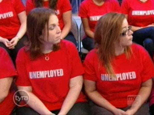 """Tyra Audience Forced To Wear """"Unemployed"""" T-Shirts During Holiday Show"""