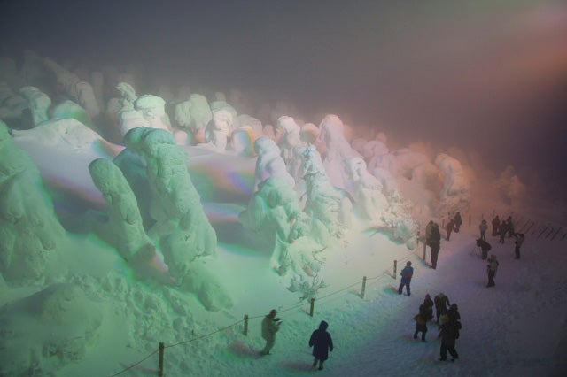 Snow monsters rise across Japan