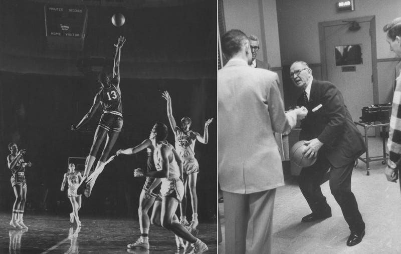 Wilt And Phog, Two Jayhawks Passing In The Night