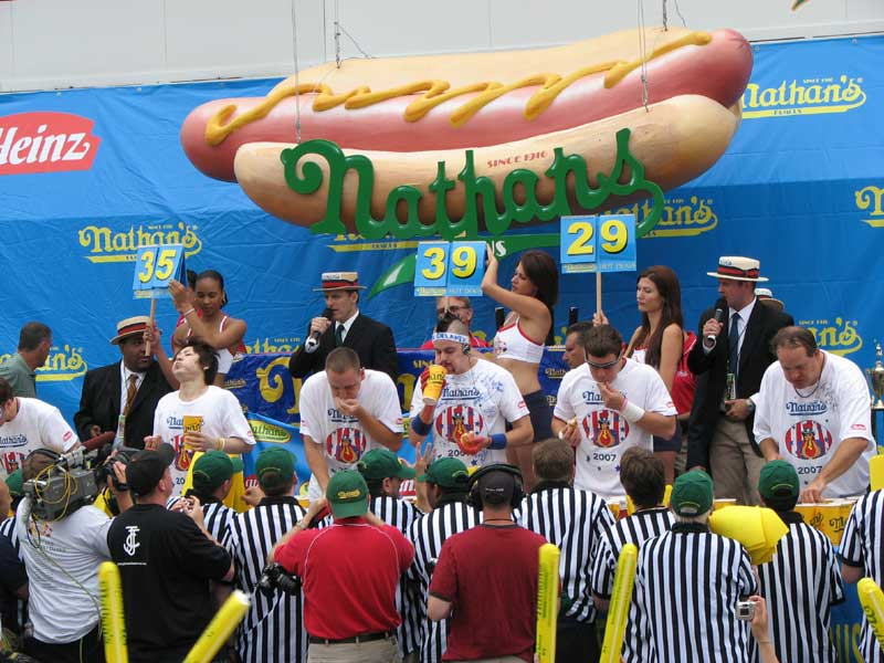 Our Visit To The Hot Dog Eating Championships