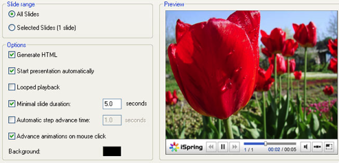 iSpring Converts PowerPoint Presentations to Flash Video