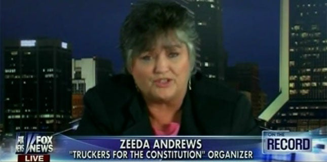 Trucker Protest Gets Crazier with Lady Who Believes Obama Is Osama