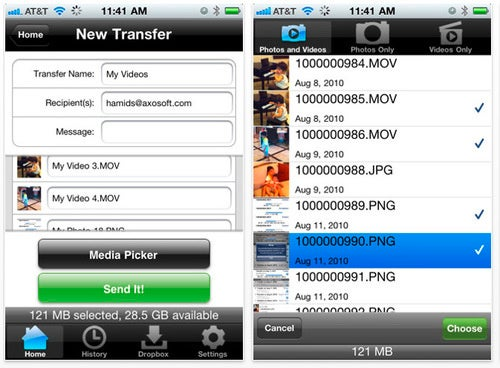 Send Videos Off Your iPhone Over 3G With Transfer Big Files
